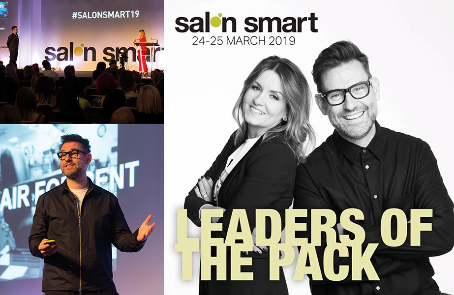 Dylan Bradshaw presents on the Salon Smart stage