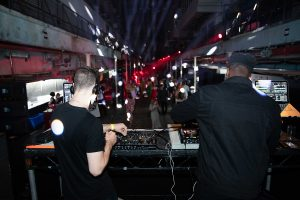 The view from behind the DJ booth at The Most Wanted Awards Grand Final 2019, held at London's Printworks