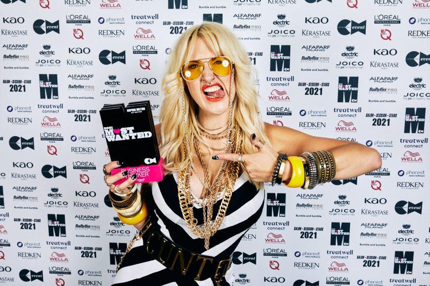 Sophia Hilton with trophy