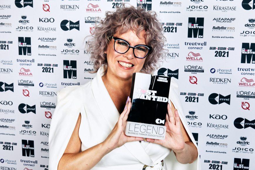 Caroline Sanderson with trophy