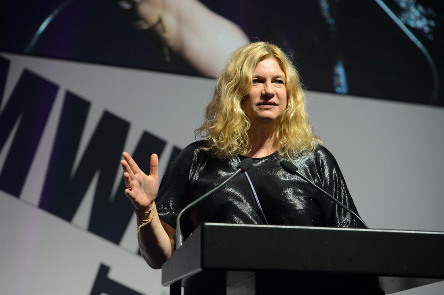 Zoe Irwin on stage