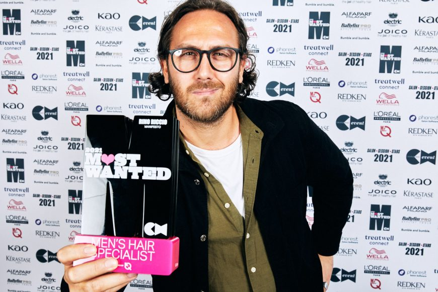 Rino Riccio with trophy