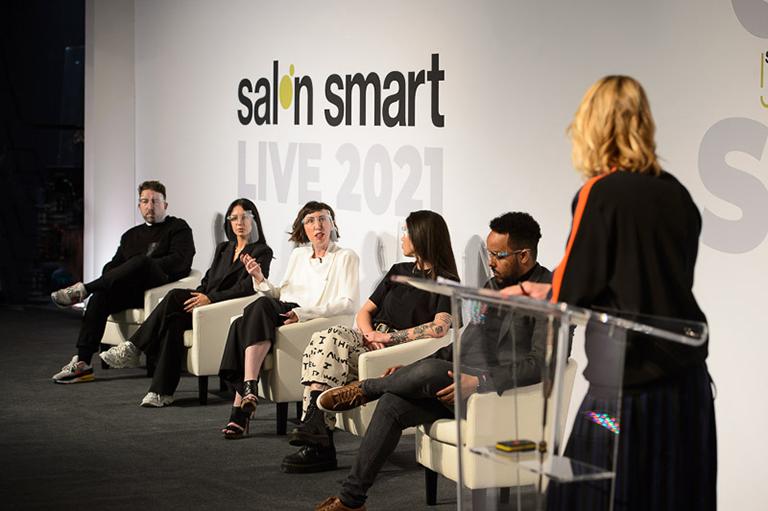 The Big Digital Debate panel on stage at Salon Smart Live 2021