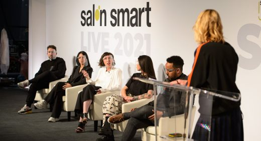 The Big Digital Debate panel on stage during The Great Debate at Salon Smart Live 2021