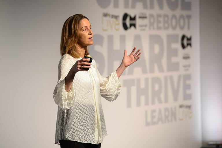 L'Oréal Professionnel's Monica Teodoro on stage at Creative HEAD Magazine's Salon Smart Live 2021