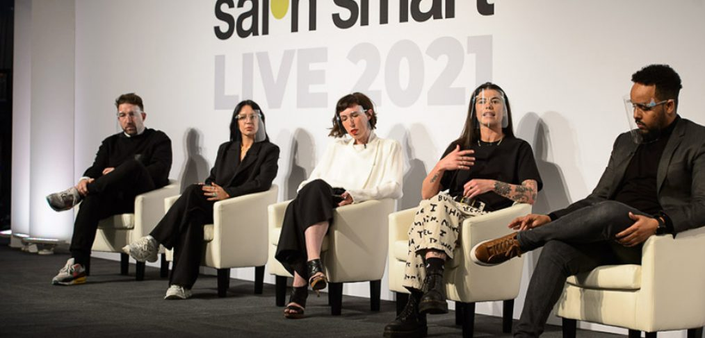Digital Debate panel on stage during The Great Debate at Creative HEAD Magazine's Salon Smart Live 2021