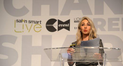 Jordanna Cobella, Cobella, on stage at Salon Smart LIVE 2021