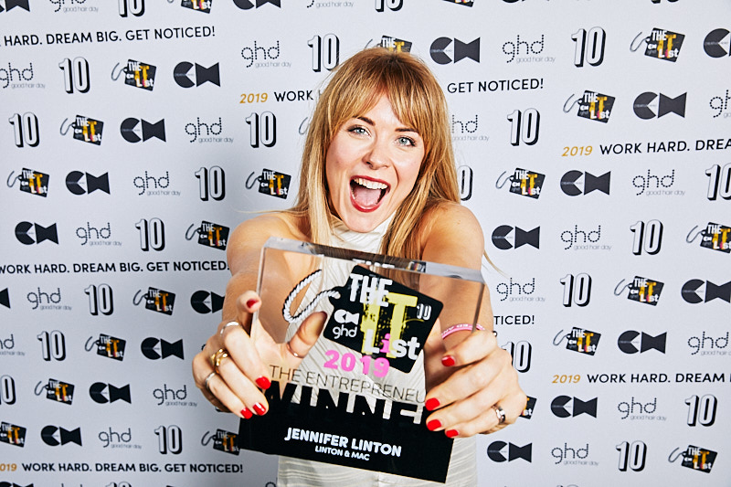 Creative Head It List and Most Wanted Awards, winners with trophys, comm by Joanna Andersen