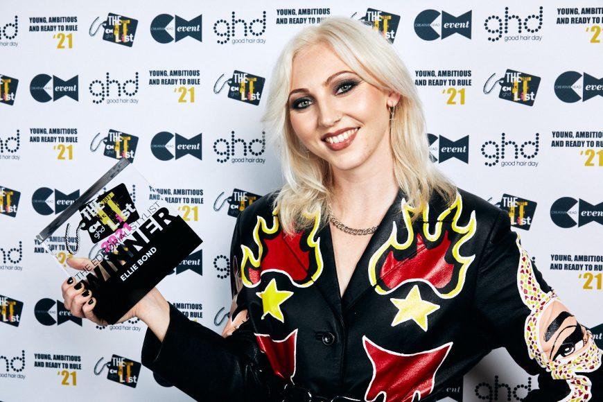 Ellie Bond with trophy