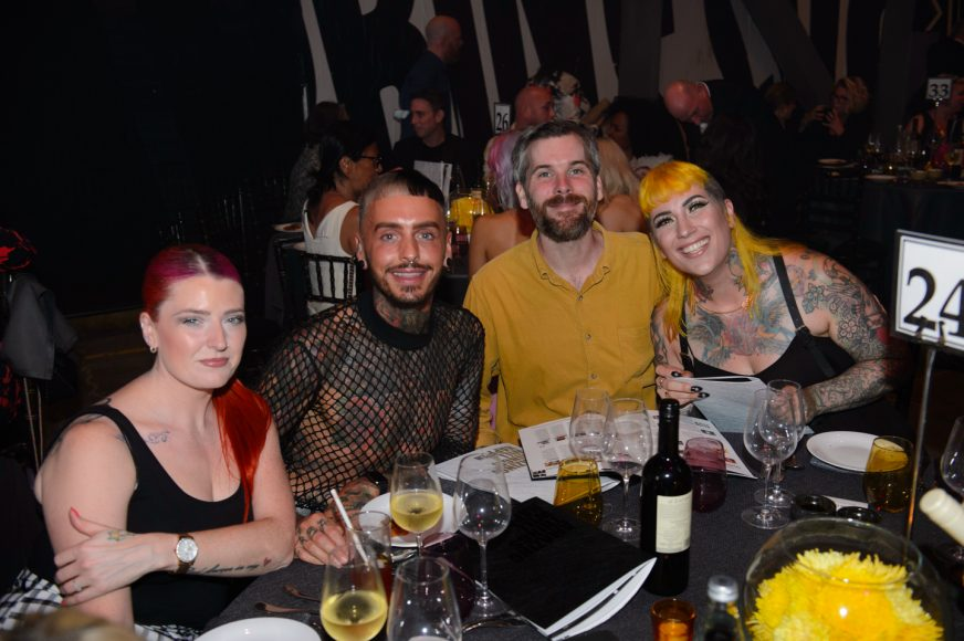 Guests at yellow table