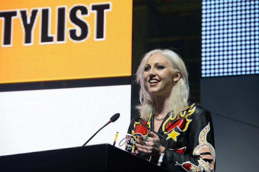 Ellie Bond on stage