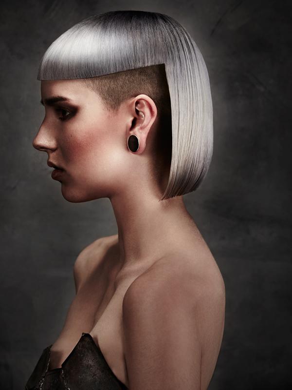 Hair: Charlene Fernandez (colour) and Scott Condon (styling) for Rokk Ebony Make-up: Sarah Baxter Styling: Brandon Photography: Elizabeth Kinnaird - RESIZED-rokkebony_CFernandez_Galvanized_15AHFA_Colour6
