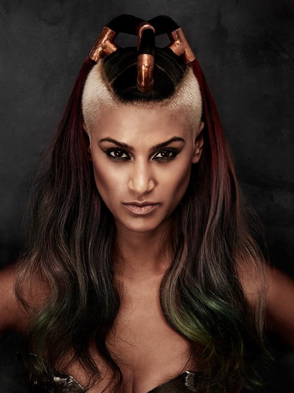 Hair: Charlene Fernandez (colour) and Scott Condon (styling) for Rokk Ebony Make-up: Sarah Baxter Styling: Brandon Photography: Elizabeth Kinnaird - RESIZED-rokkebony_CFernandez_Galvanized_15AHFA_Newcomer2